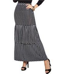 falda lorna negro para mujer croydon