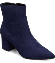 pointy ankle boot shoes boots ankle boots ankle boots with heel blå bianco