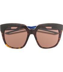 balenciaga eyewear hybrid d-frame sunglasses - brown