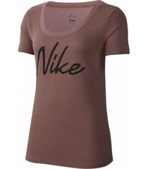 camiseta marrón nike pro graphic icon clash