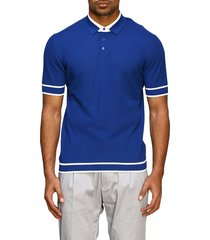 paolo pecora polo shirt paolo pecora short-sleeved polo shirt with contrasts