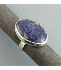 sodalitowy - pierścionek