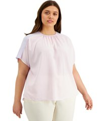 alfani plus size gathered top, created for macy's