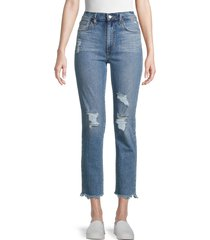 joe's jeans women's high-rise destroyed straight jeans - claremont - size 29 (6-8)