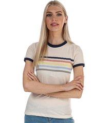 womens rainbow ringer t-shirt