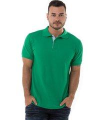 camiseta tipo polo verde antioquia hamer fondo entero