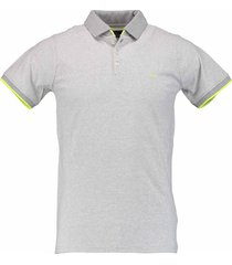 born with appetite noel - polo single jersey str 18108no30/940 l grey