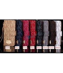luxury pu leather michael kors samsung galaxy s8,s8 plus case card slots & strap