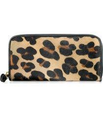 fontanelli designer wallets, horsehair zip-around wallet