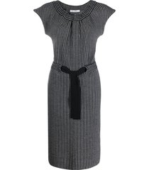 christian dior 2000s pre-owned slim-fit dress - black