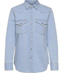 de-ringy shirt långärmad skjorta blå diesel women