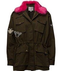 canvas army jacket w. fur collar & sommarjacka tunn jacka grön coster copenhagen