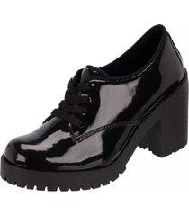bota coturno clube do sapato de franca montividéu verniz preto - kanui