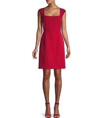 cap-sleeve stretch sheath dress