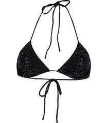 ermanno scervino crystal-embellished bikini top - black