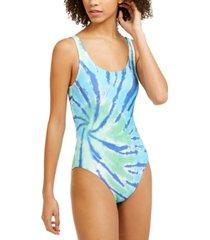 tommy hilfiger tie-dye one-piece swimsuit women's swimsuit