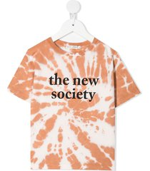 the new society tie dye-print short-sleeved t-shirt - pink