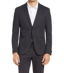 men's boss slim fit soft cotton blend sport coat, size 40 regular - grey
