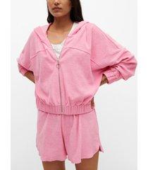 mango women's cotton towel texture sweatshirt