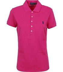 pink cotton polo shirt