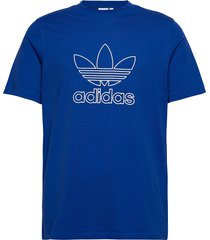 trefoil tee out t-shirts short-sleeved blå adidas originals