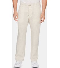 perry ellis men's regular-fit linen drawstring pants