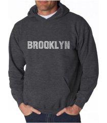 la pop art men's word art hoodie - brooklyn neighborhoods