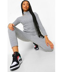 cut out detail sweater and legging co-ord, grey
