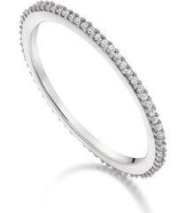 skinny diamond eternity ring, sterling silver