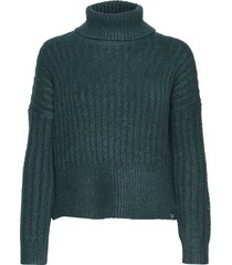 dahlia roll neck jumper turtleneck polotröja grön superdry