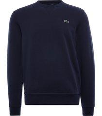 lacoste sport cotton blend fleece sweatshirt | marine | sh1505-423