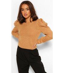 shoulder detail sweater, camel