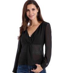 blusa escote nudo negro nicopoly