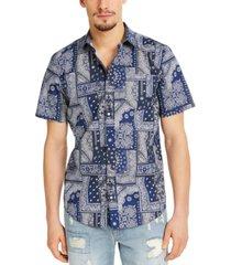 sun + stone men's bandana quilt shirt, created for macy's