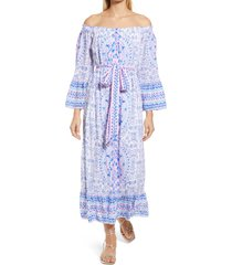 lilly pulitzer(r) abigale off the shoulder dress, size x-large in resort white time to shine at nordstrom