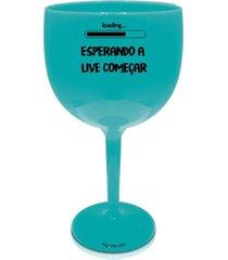 2 taã§as gin azul personalizada para live - azul - dafiti