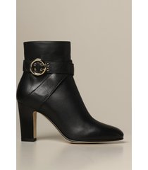 jimmy choo heeled booties blanka jimmy choo leather ankle boots with buckle
