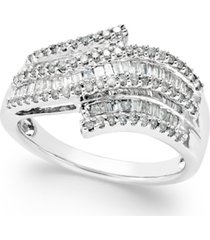 diamond wave right hand ring (1/2 ct. t.w.) in sterling silver