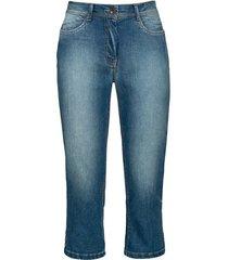 elastische capri-jeans van bio-katoen in 4-pocket-style, lichtblauw 40