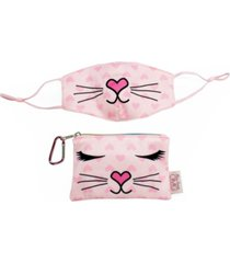 bella kitty face mask, pouch set