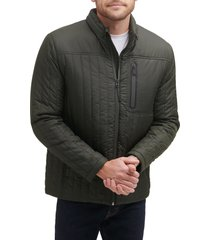 cole haan fleece lined quilted jacket, size small in dark green at nordstrom