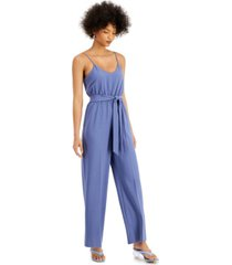 bar iii sleeveless wide-leg jumpsuit, created for macy's