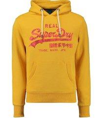hoodie rising sun geel