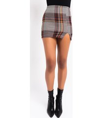 akira pumpkin spice anyone plaid mini skirt