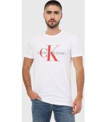 camiseta blanco-rojo calvin klein