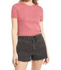 treasure & bond tonal ringer t-shirt, size xx-small in pink mauve at nordstrom