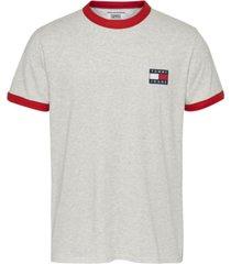 camiseta tjm branded ringer t-shirt gris tommy jeans