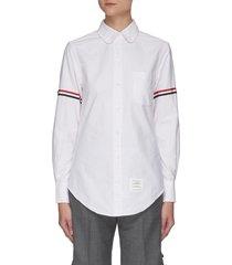 grosgrain armband oxford cotton shirt