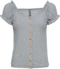 maglia con bottoni (grigio) - rainbow