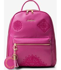 mini backpack embossed mandalas - red - u